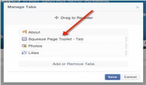 Squeeze Page to a Facebook Page
